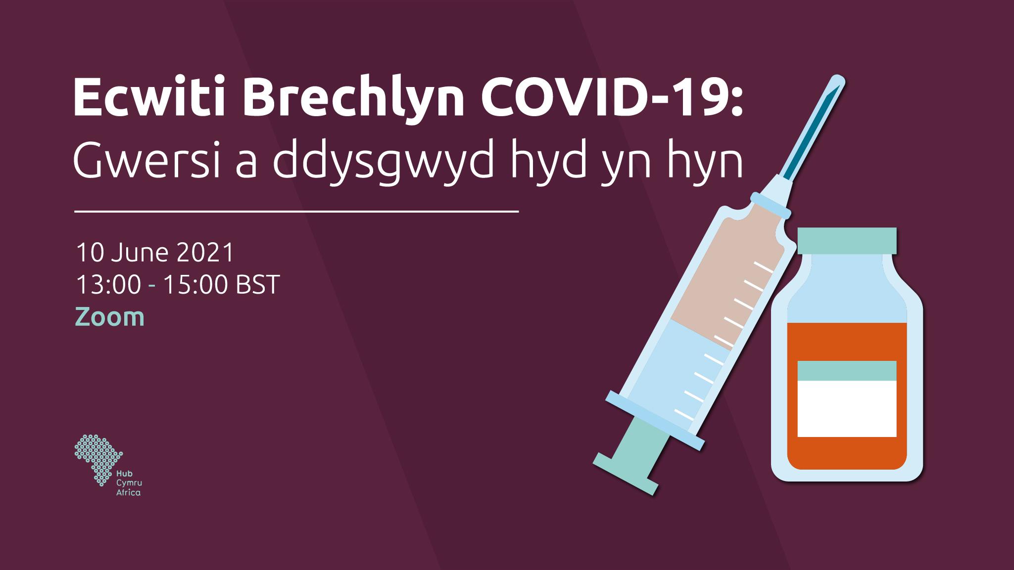 Ecwiti Brechlyn COVID-19: Gwersi a ddysgwyd hyd yn hyn